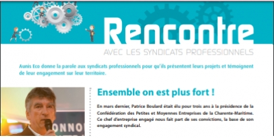 Ensemble on est plus fort ! Interview de Patrice BOULARD dans Aunis Eco sept.2018